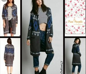 Free People Frosted Fair Isle Cardigan sz M